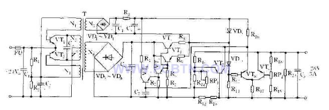 共发射极推挽式自激振荡器的工作原理