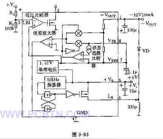 MAX636反激型变换器