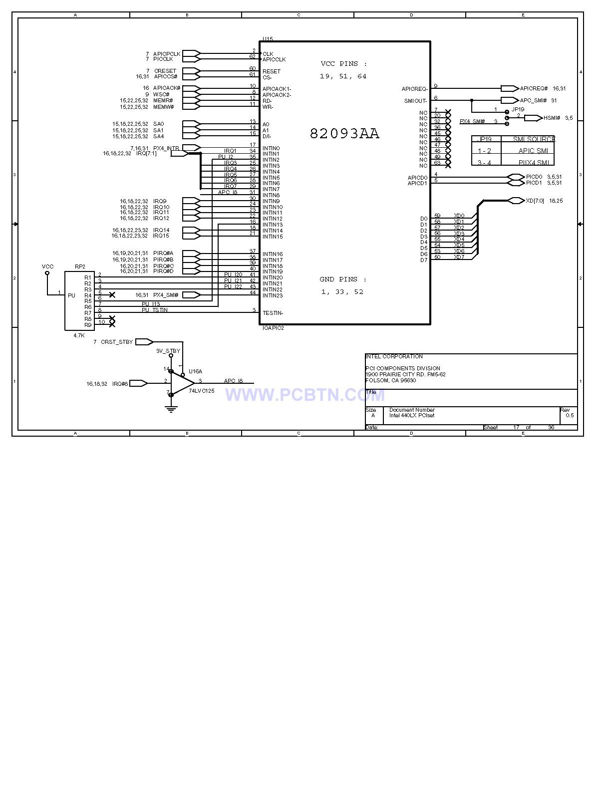 电脑主板设计图440lx[_]17