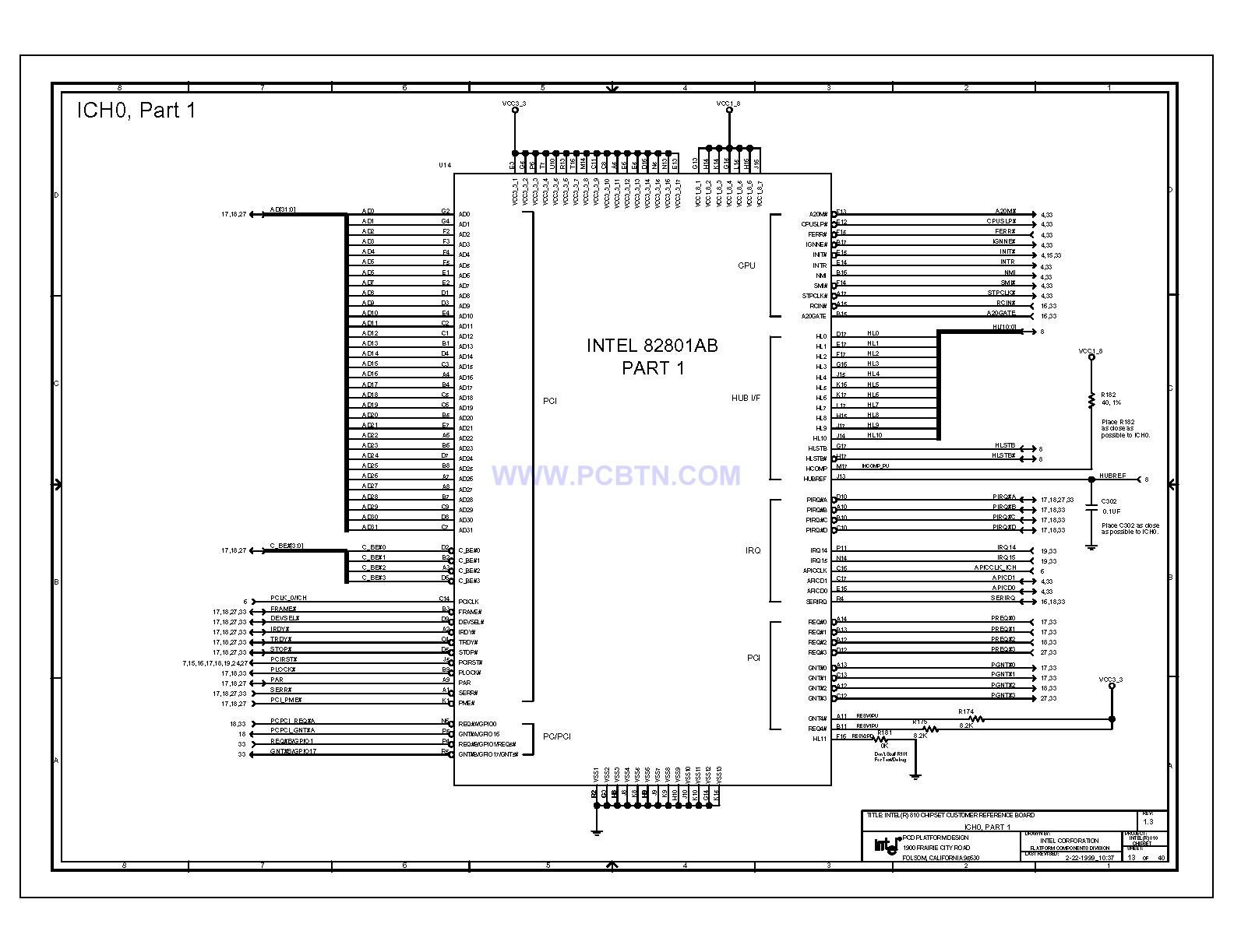【图】810电脑主板电路图1[