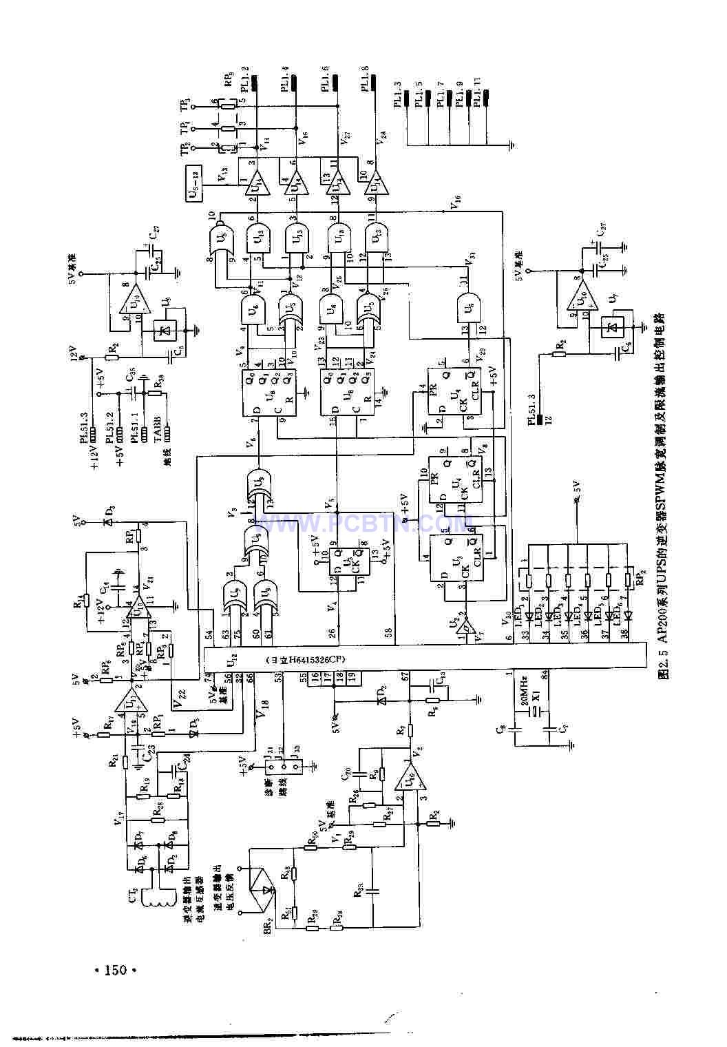 AP200系列的UPS逆变器的脉宽调制及限流输出控制电路
