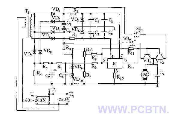 家用交流稳压器的电路图图片