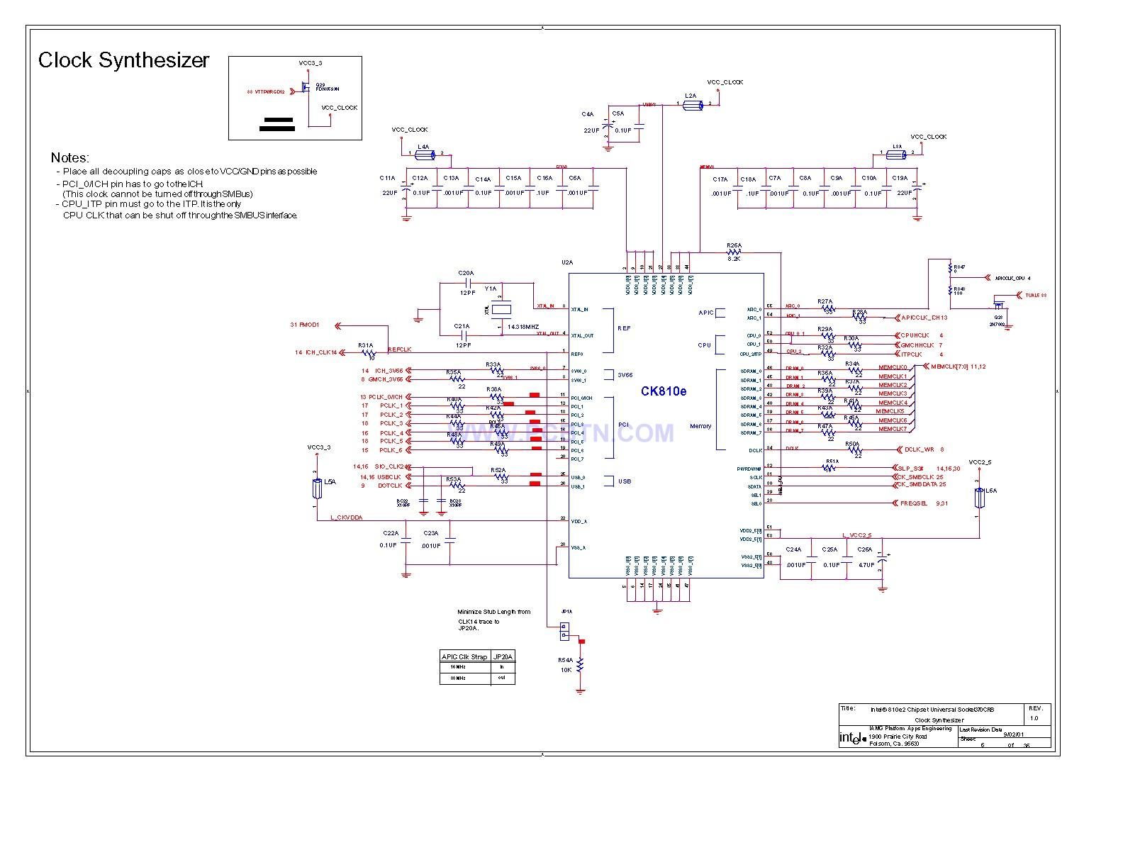 电脑主板810电路图[_]06