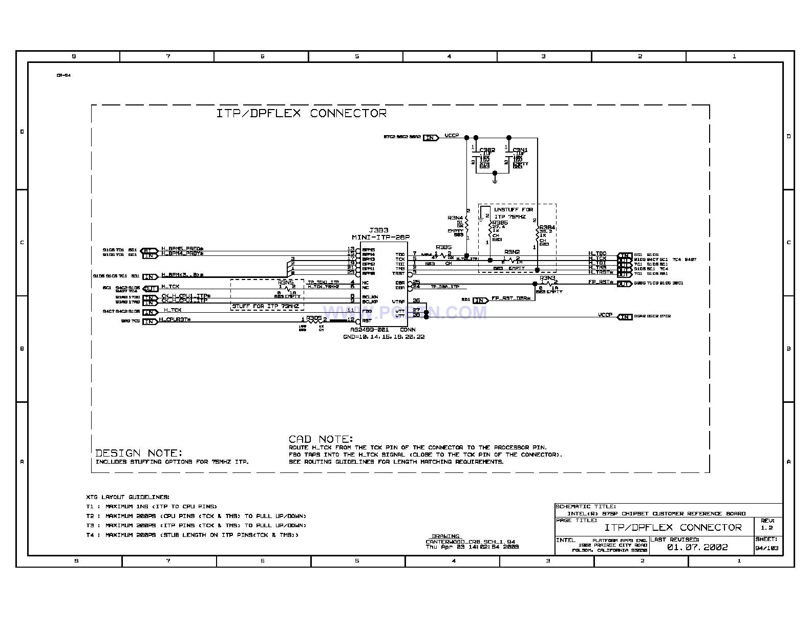 电脑主板875p电路图[_]098