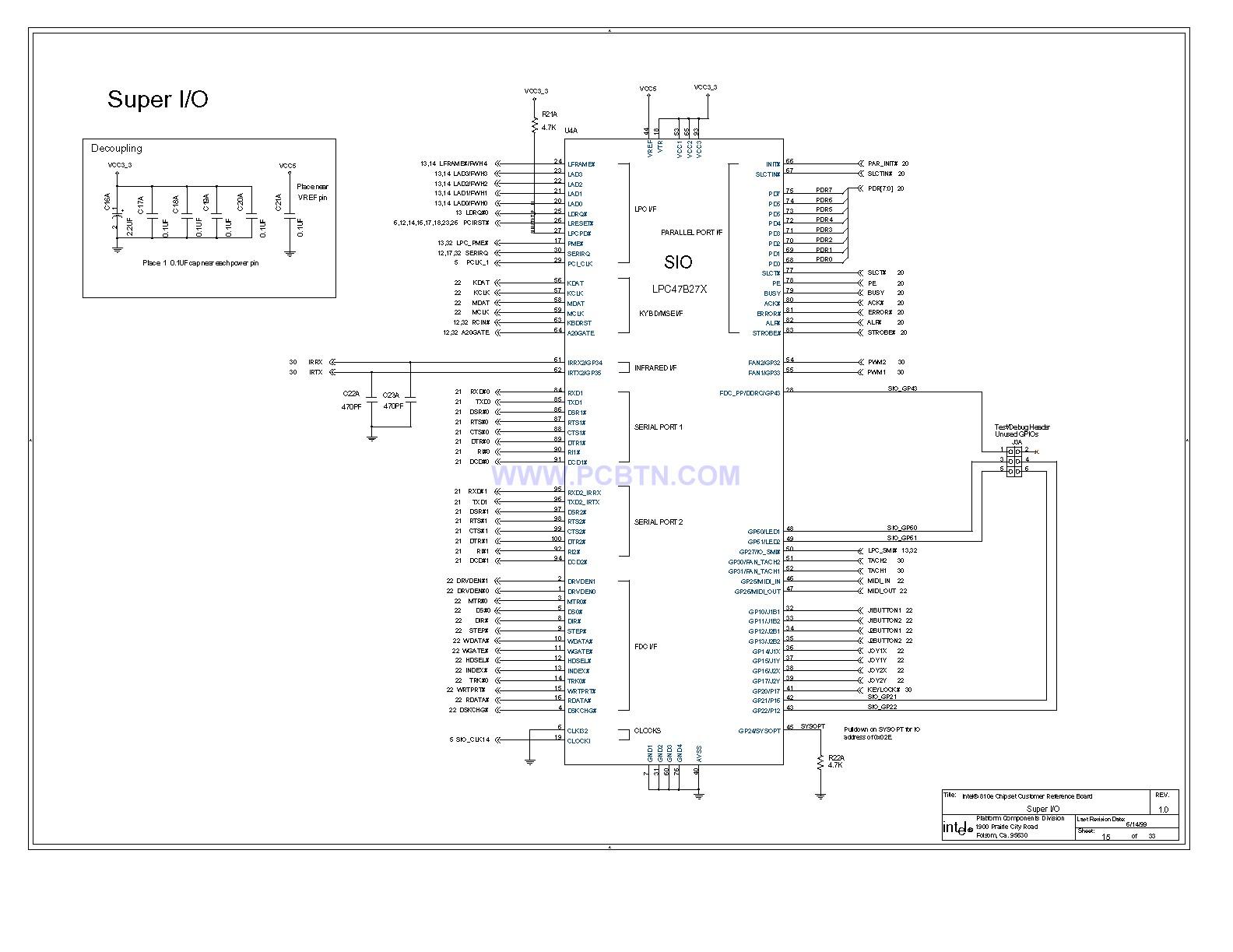 电脑主板810E电路图[_]15