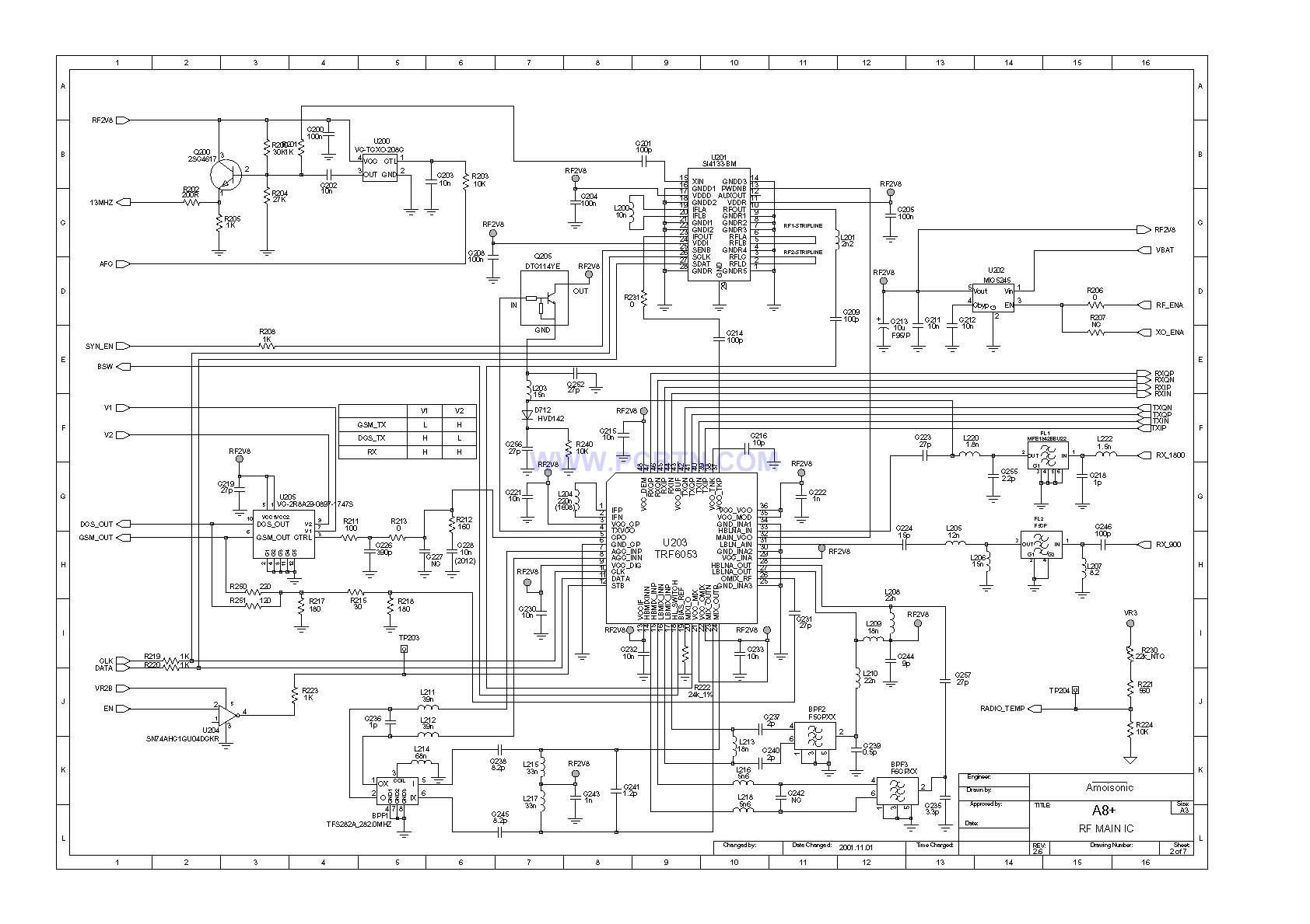 夏新A8电路图