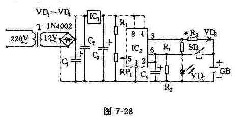 镍隔电池自动充电装置