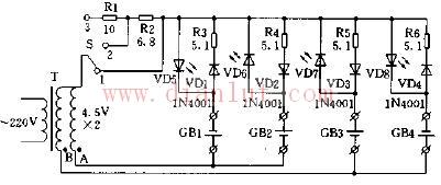 简单电池充电器原理图电路及说明图片