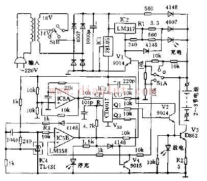 正负脉冲调制式电池恒流充电器电路图