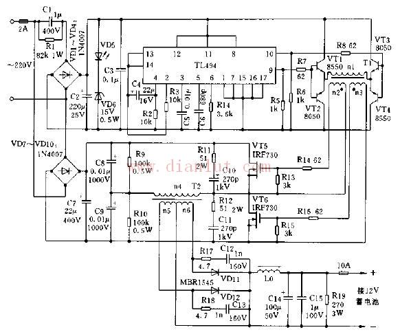 开关电源式恒流充电机电路的应用