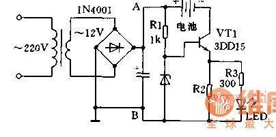 单管恒流充电器的电路图