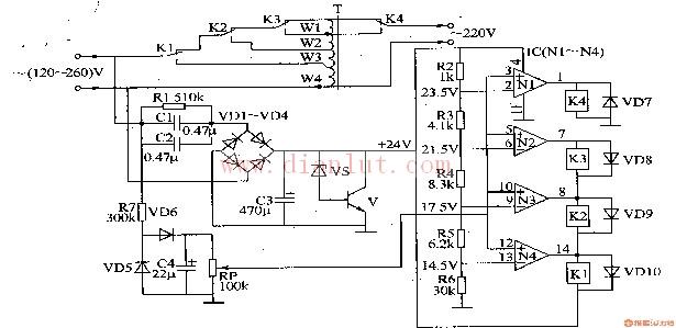 交流稳压器电路图及工作原理