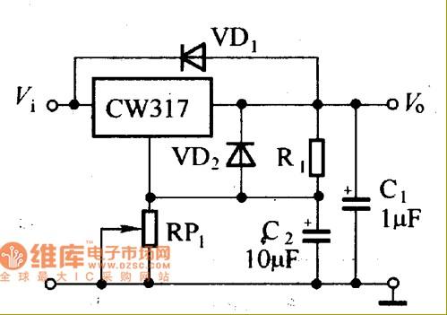 CW137可调集成稳压器电路原理图