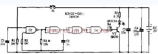 【图】一红外遥控发射器电路图电源电路