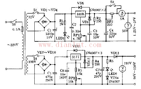 稳压电源电原理图电路及工作原理