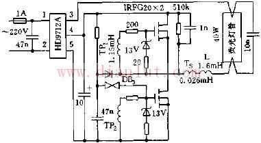 用HD9712整流滤波模块组装的电子镇流器电路