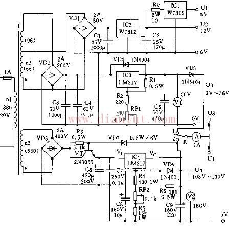 基于W7805芯片制作电源电路