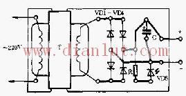 简易的电源变换器印制电路图