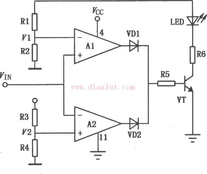 基于LM324芯片设计单 双电源通用四运算放大电路电源电路 电路图 捷