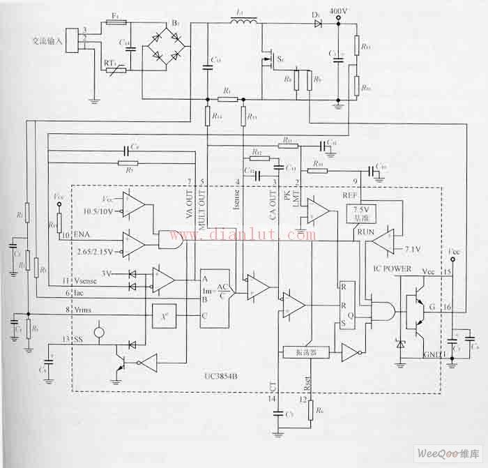 基于uc3854b的新型高压钠灯电子镇流器电路
