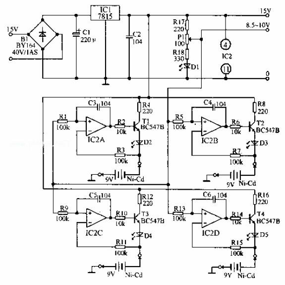 可预置充电终止电压的9V充电器