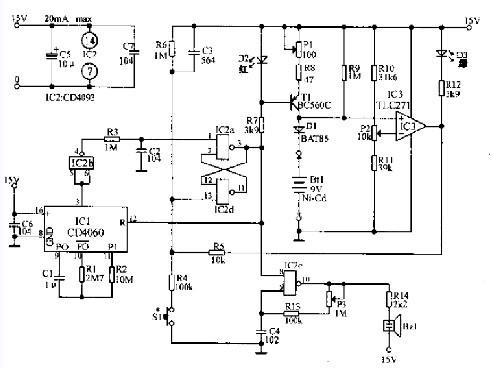 具有数字电路定时器的9v充电器