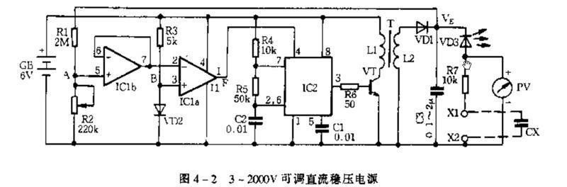 2000V可调直流稳压电源电源电路 电路图 捷配电子市场网图片
