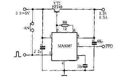 简易上电自动启动电路图