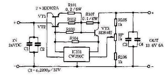 【图】甚高频稳压电源电路电源电路