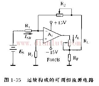由F007B运放构成的可调恒流源电路