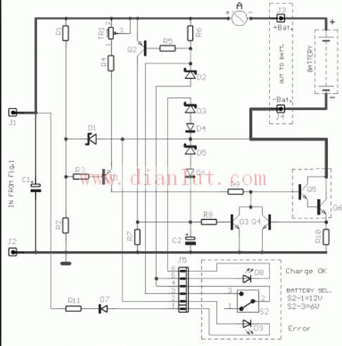 【图】汽车电池12v充电器电源电路