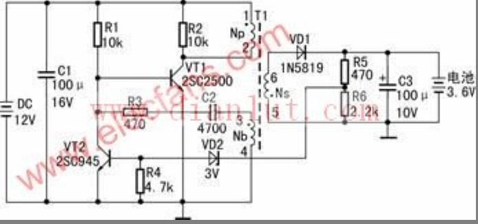 太阳能手机充电器原理图