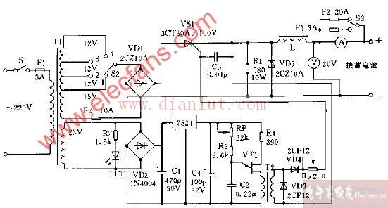 晶闸管充电器电路图及其工作原理