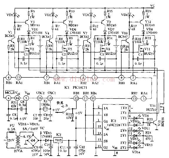 基于PIC16C71单片机设计智能电器电路