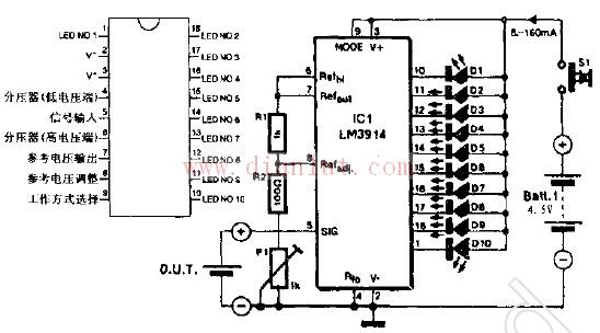 【图】发光二极管电池测试图及其图解电源电路 电路图