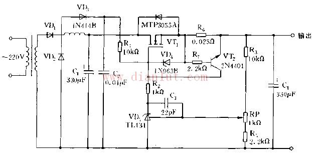 利用MOS管的特性制作低压降线性稳压电源