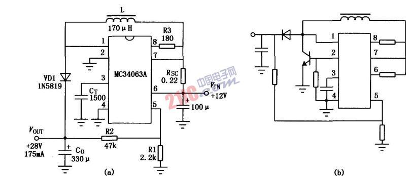 基于MC3406A的DC-DC集成变换器电路