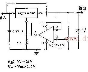 可调的稳压器电路