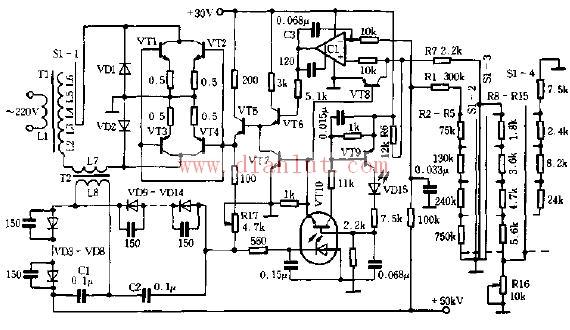 高压电源,又名高压发生器,一般是指输出电压在五千伏特以上的电源,一般高压电源的输出电压可达几万伏,甚至高达几十万伏特或更高。   高压电源,一般泛指直流高压电源,直流高压电源又有线性调整高压电源和开关型调整高压电源两种。其技术发展方向主要有两个,一是提高电源功率,即高电压、高电流;二是缩小电源体积,即高电压,小体积,缩小电源的体积主要是提高电源的开关频率。高功率电源,往往体积较大,而小体积电源,往往电流较小,功率较低。除此之外,高转换效率,高负载,高精度,低纹波,也是高压电源设计者的研究方向。