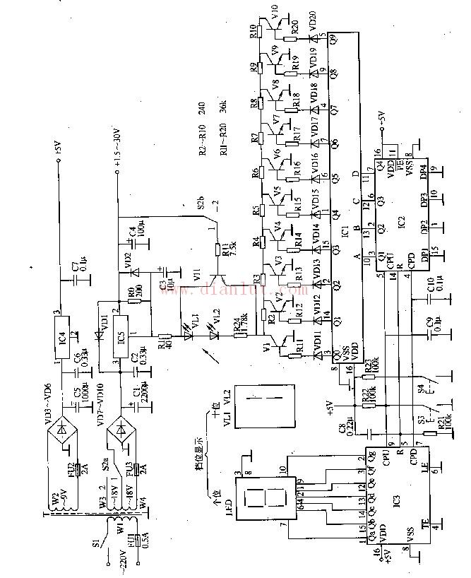 多档数控直流稳压电源电路