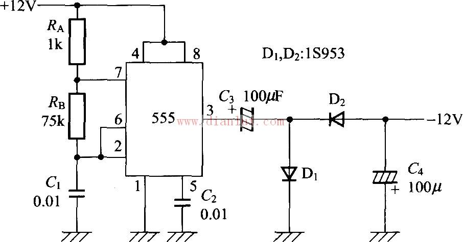 采用555的负电压发生电路