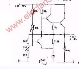采用电压放大器的串联稳压电路及说明电源电路 电路图 捷配电子市场网图片