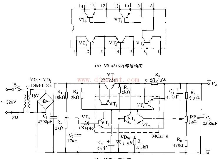 采用晶体管集成电路的稳压电源