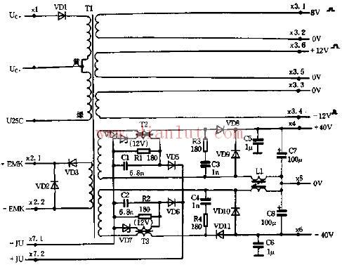 采用基本元器件制作变换器电路