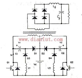 【图】无损吸收推挽变换器的应用电源电路