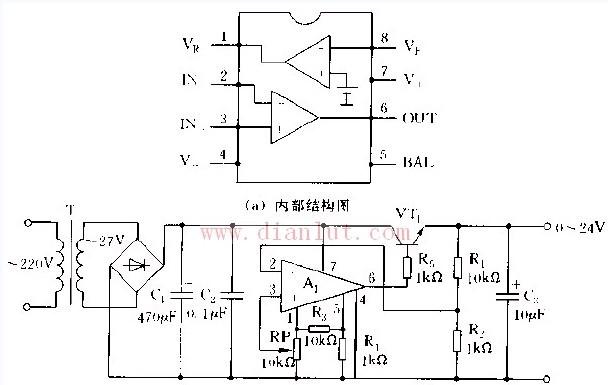 【图】采用lm10构成的稳压电源电路电源电路