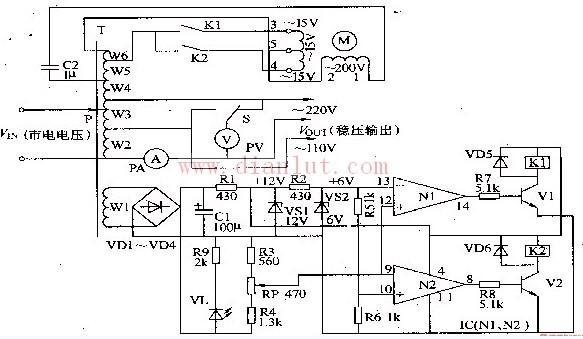 【图】交流稳压器电路电源电路