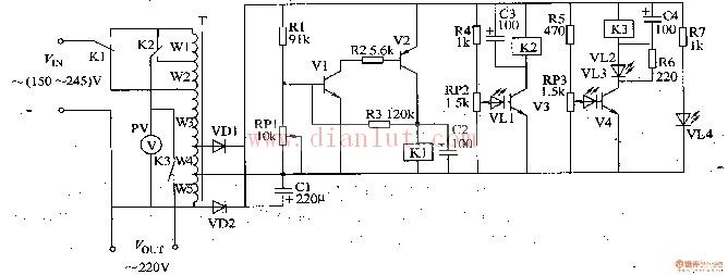 交流稳压器电路图(十四)