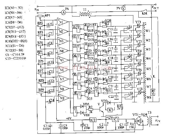【图】交流稳压器电路的应用(一)电源电路