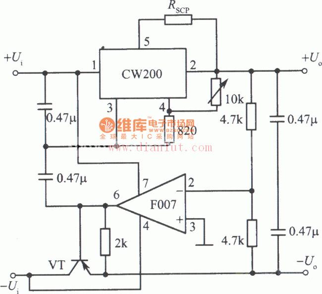 CW200集成稳压电源电路.集成稳压器是指将不稳定的直流电压变为图片